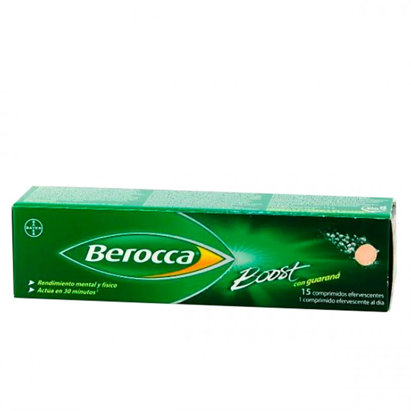 Berocca boost 15 comprimidos efervescentes-Farmacia Olmos