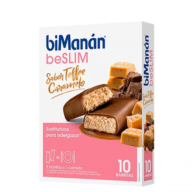 Bimanan be slim barritas toffee 10 unidades-Farmacia Olmos