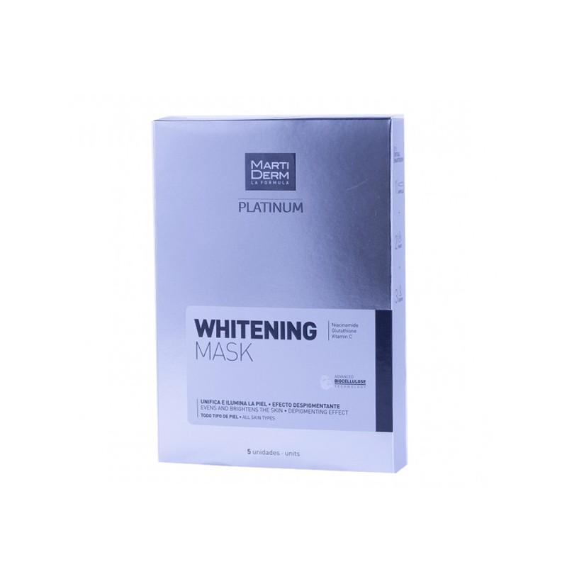 Martiderm platinum whitening mask 5 unidades-farmacia olmos