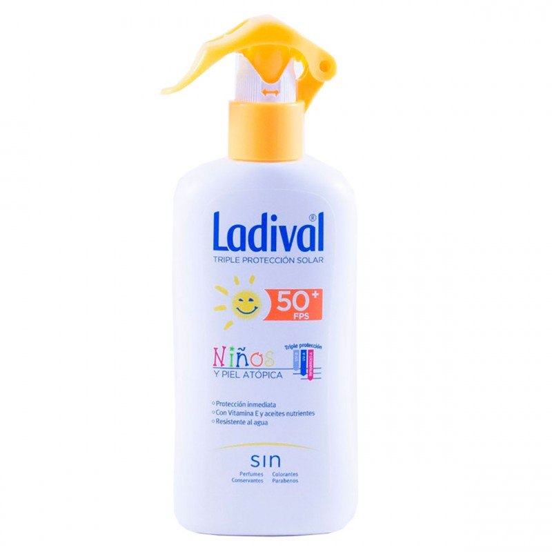 Ladival niños fotoprotector pieles atopicas fps 50 spray 200 ml-Farmacia Olmos