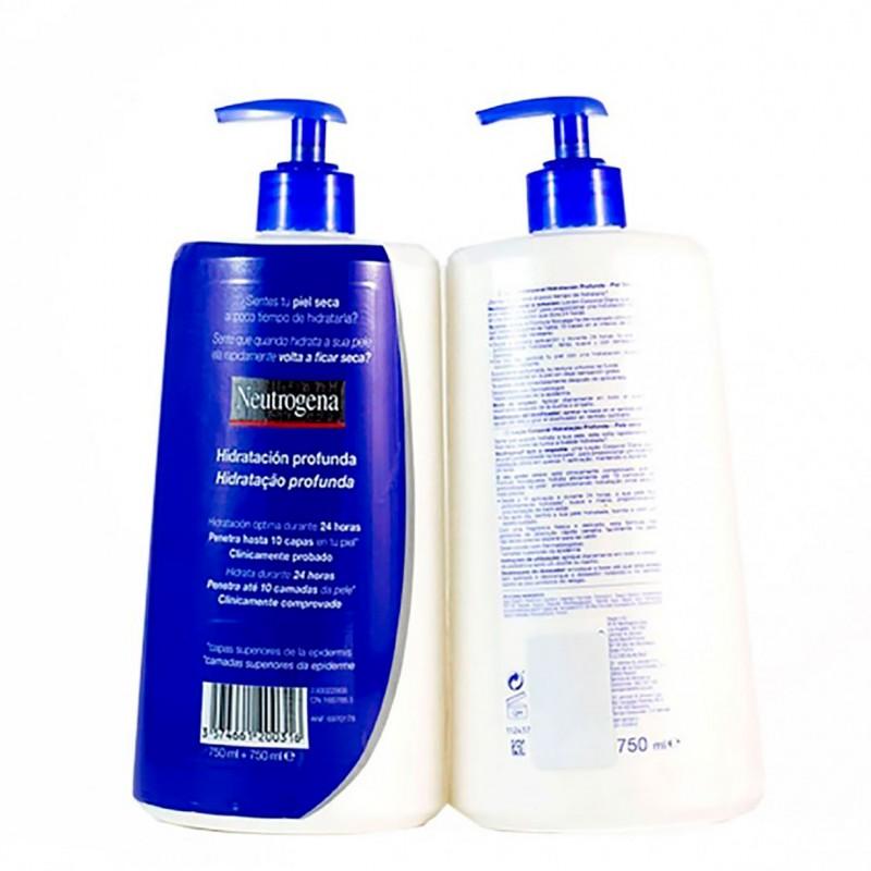 Neutrogena  loc corporal hidratacion profunda piel seca 750 ml duplo-Farmacia Olmos