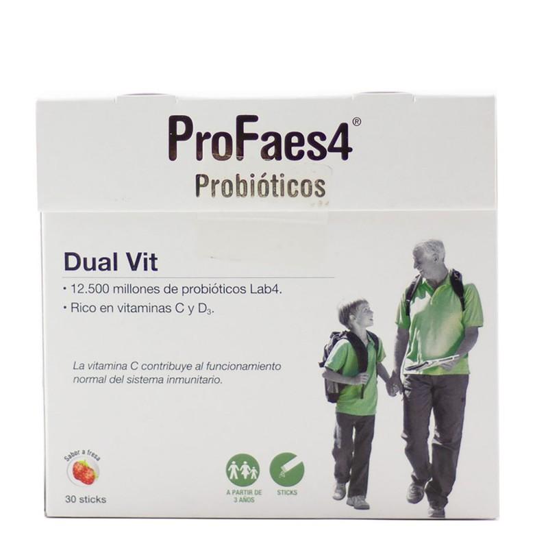 Profaes4 probioticos dual-vit 30 sticks-Farmacia Olmos