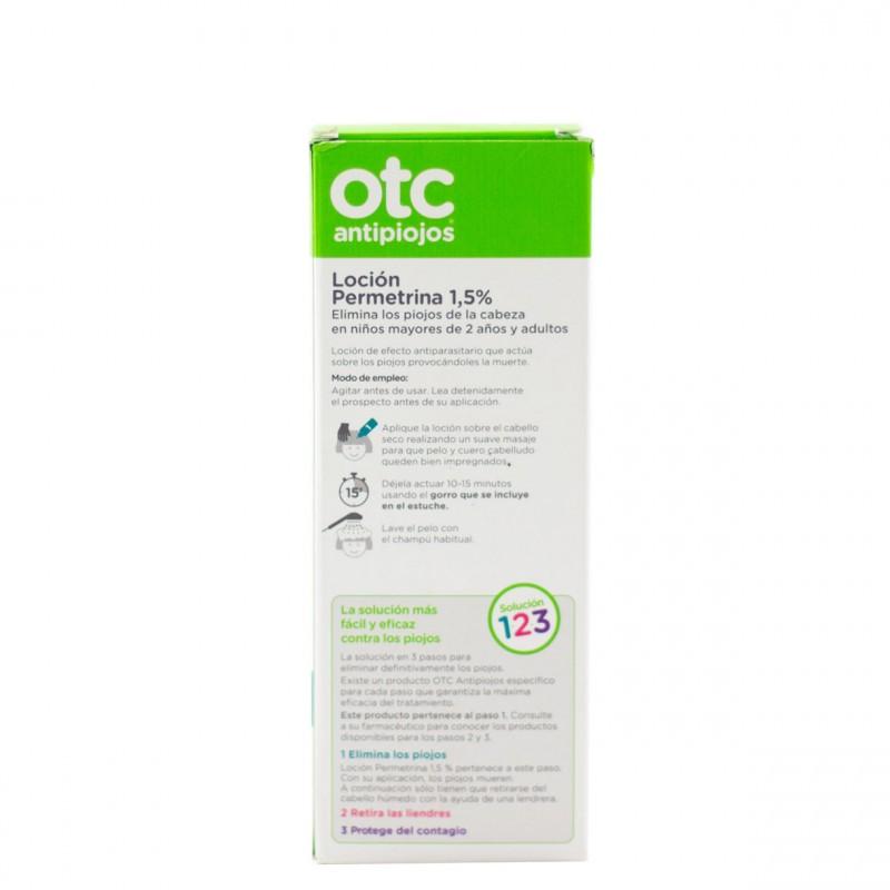 Otc antipiojos permetrina 1,5% locion 125ml-Farmacia Olmos