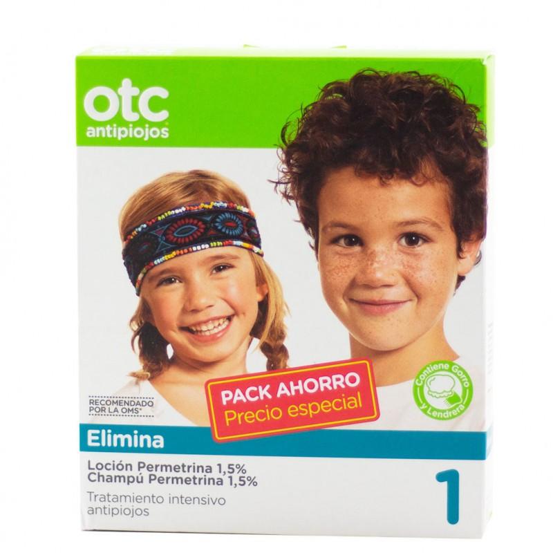 Otc antipiojos pack elimina permetrina 1,5% locion+champu-Farmacia Olmos