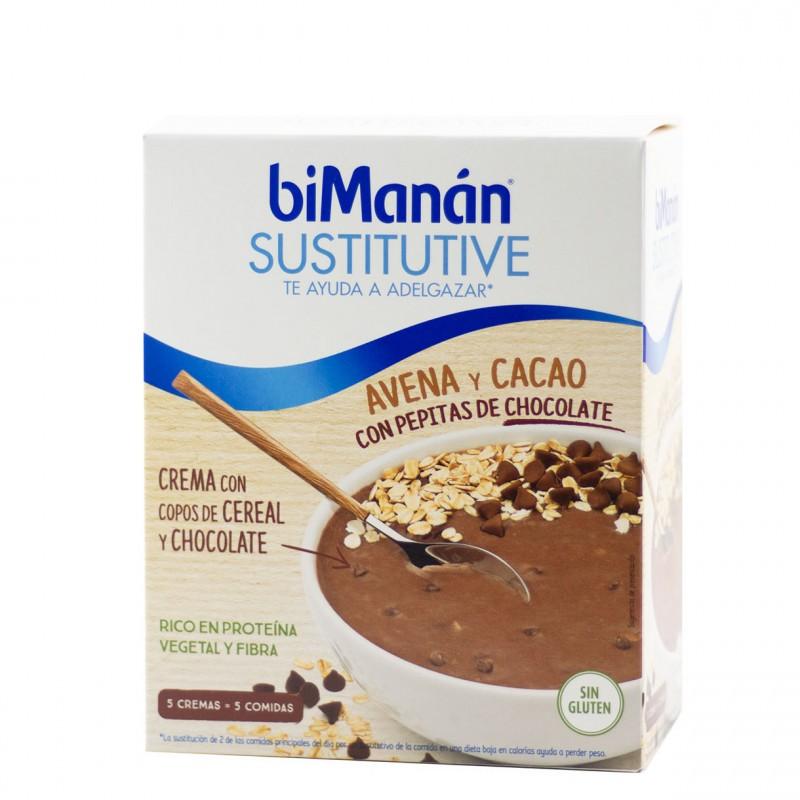 Bimanan sustitutive avena y cacao con pepitas choco 5 sobres-Farmacia Olmos
