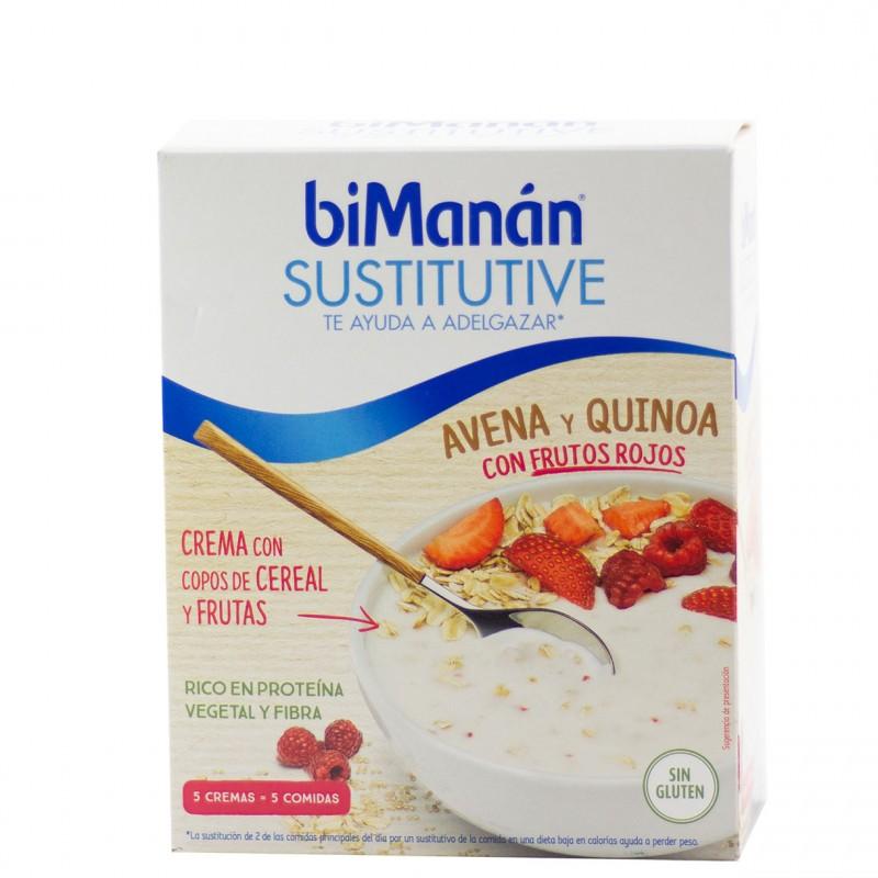 Bimanan sustitutive avena y quinoa con frutos rojos 5 sobres-Farmacia Olmos