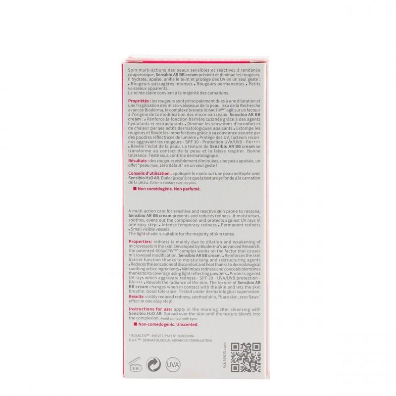 Bioderma sensibio ar bb cream spf 30  40 ml-Farmacia Olmos