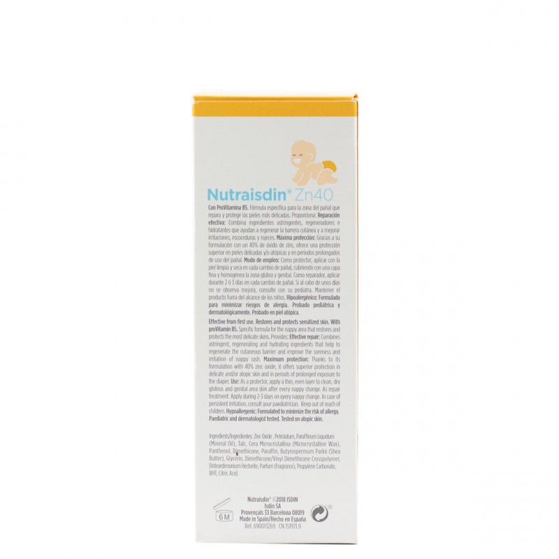 Isdin baby nutraisdin zn40 pomada reparadora 100ml-Farmacia Olmos