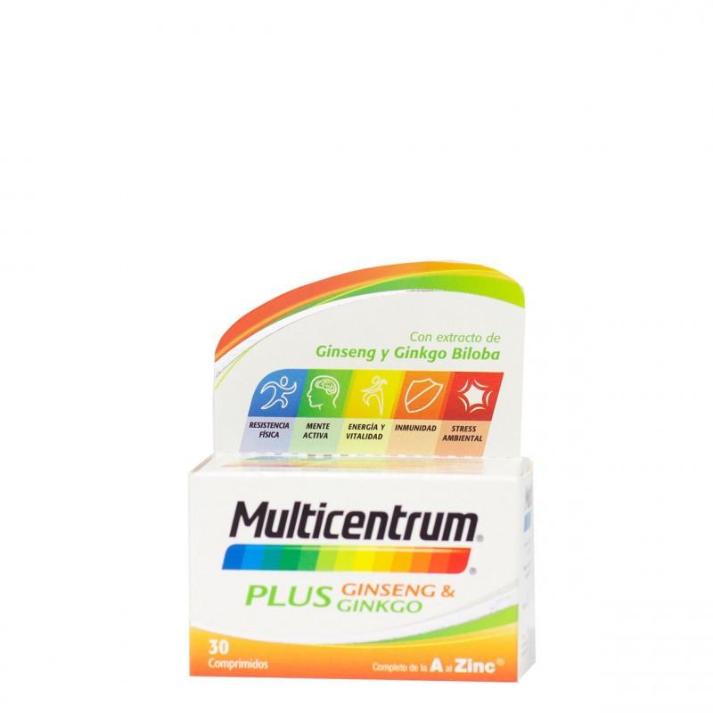 Multicentrum plus ginseng y ginkgo  30 comp-Farmacia Olmos