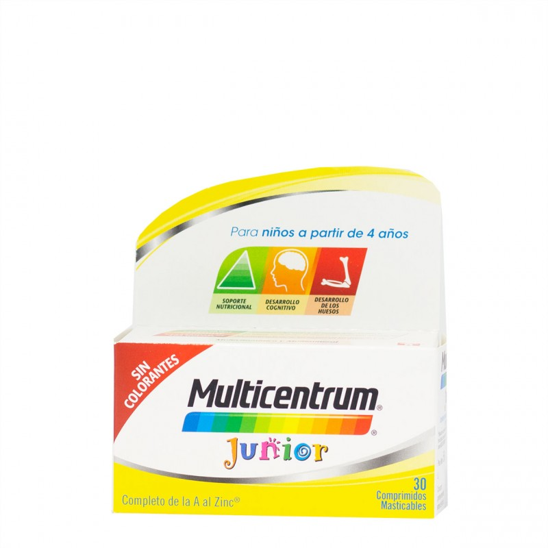 Multicentrum junior 30 comprimidos masticables-Farmacia Olmos