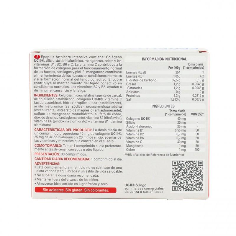 Epaplus colageno+silicio+hialuronico+manganeso ucii 30 comprimidos - Farmacia Olmos