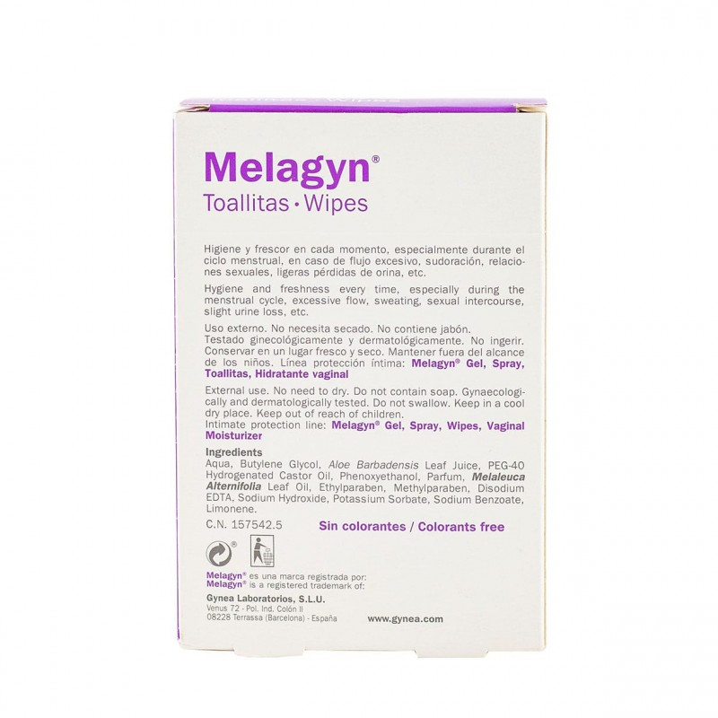 Melagyn toallitas 15 unidades - Farmacia Olmos