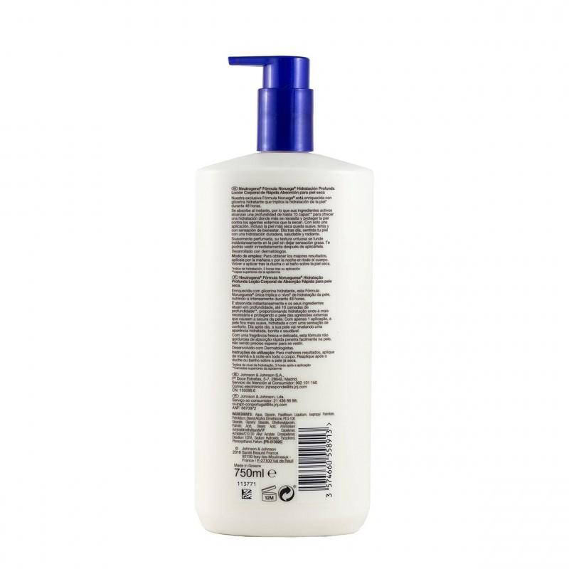 Neutrogena loc corporal hidratacion profunda p seca 750 ml-Farmacia Olmos