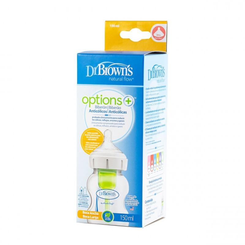 Dr brown´s biberon options+ boca ancha 150 ml - Farmacia Olmos