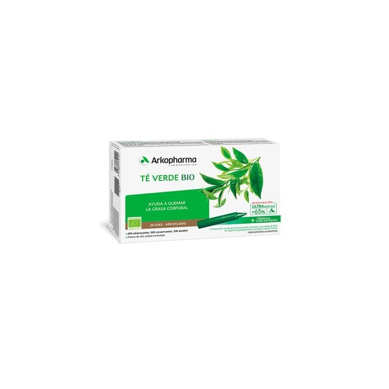 Arkofluido te verde 20 ampollas bebibles-Farmacia Olmos