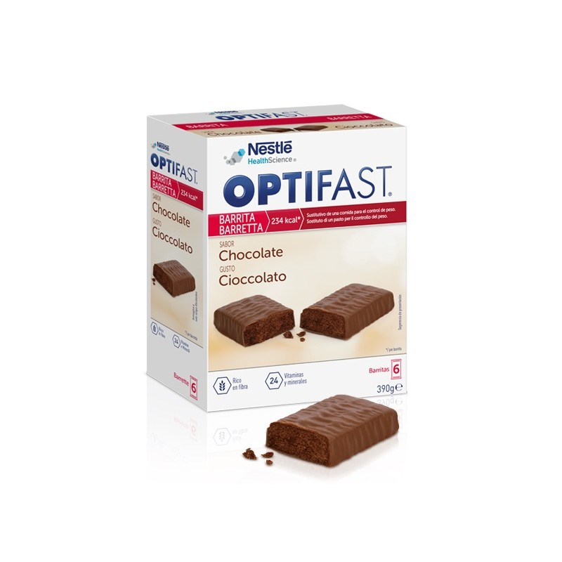 Optifast barritas chocolate 6 unidades - Farmacia Olmos