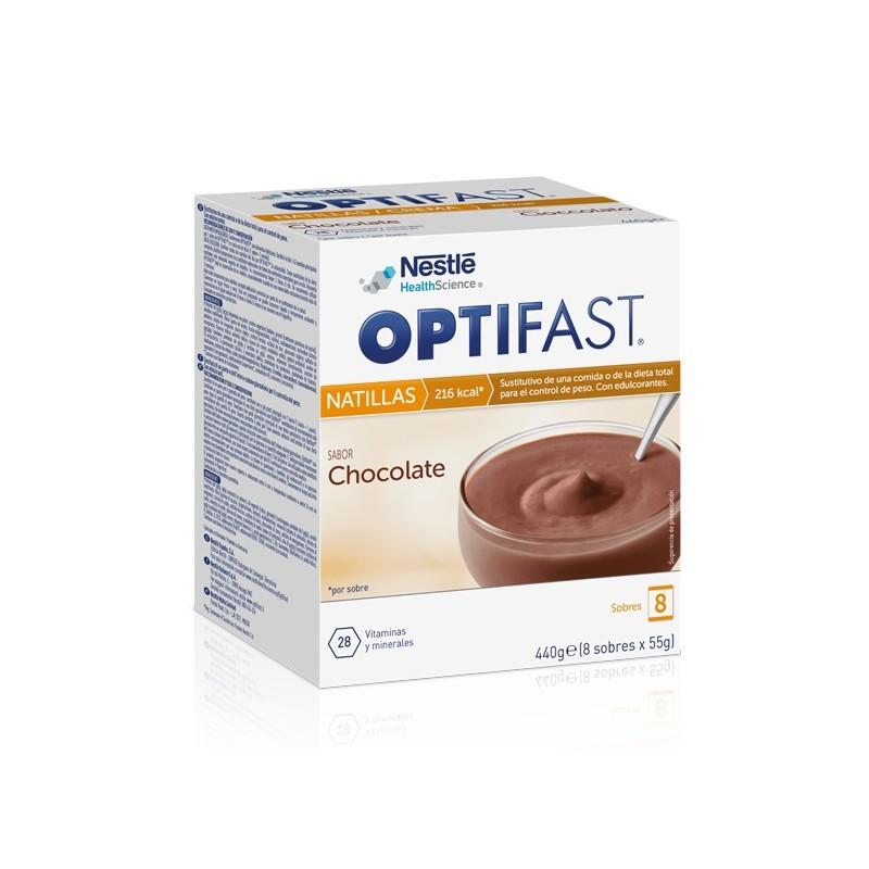 Optifast natillas chocolate 8 sobres - Farmacia Olmos