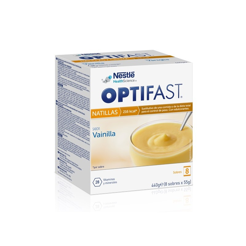 Optifast natillas vainilla 8 sobres - Farmacia Olmos