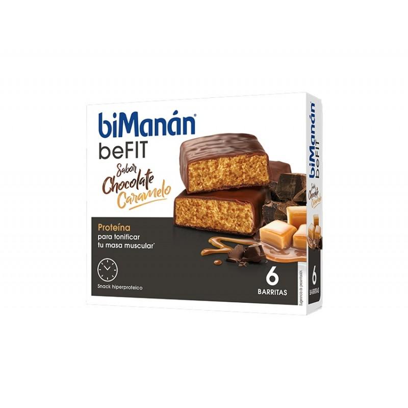 Bimanan be fit barritas hiperproteicas chocolate  6 un - Farmacia Olmos