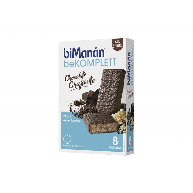 Bimanan be komplett barritas chocolate crujiente 8 unidades - Farmacia Olmos