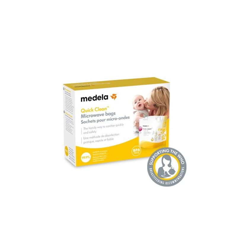 Medela bolsas para microondas reutilizables 5 unidades - Farmacia Olmos