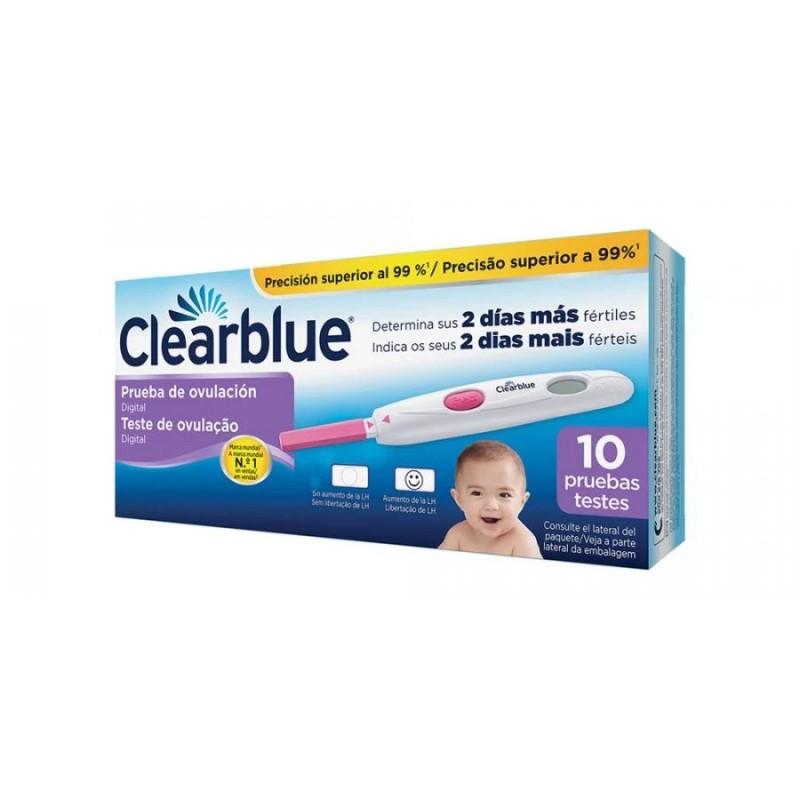 Clearblue prueba de ovulacion digital 10 test - Farmacia Olmos