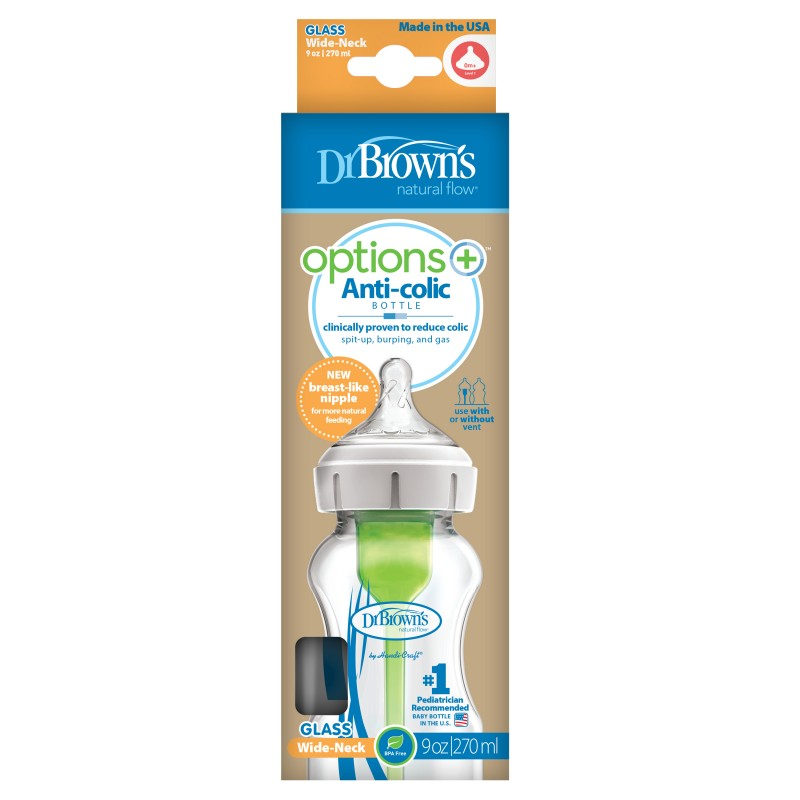 Dr brown¨s biberon options+ vidrio 270 ml-Farmacia Olmos