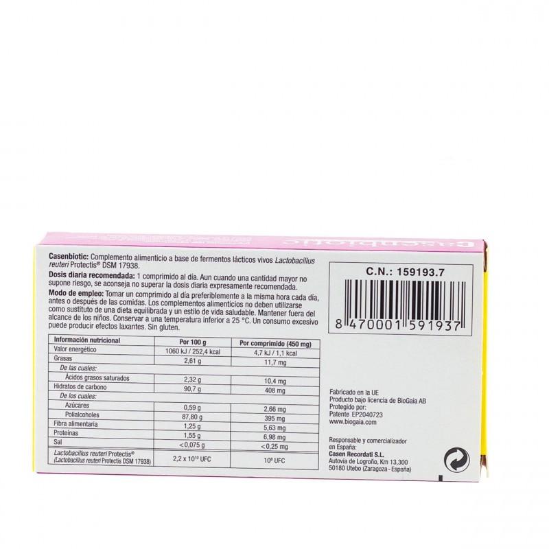 Casenbiotic limon 10 comprimidos masticables - Farmacia Olmos
