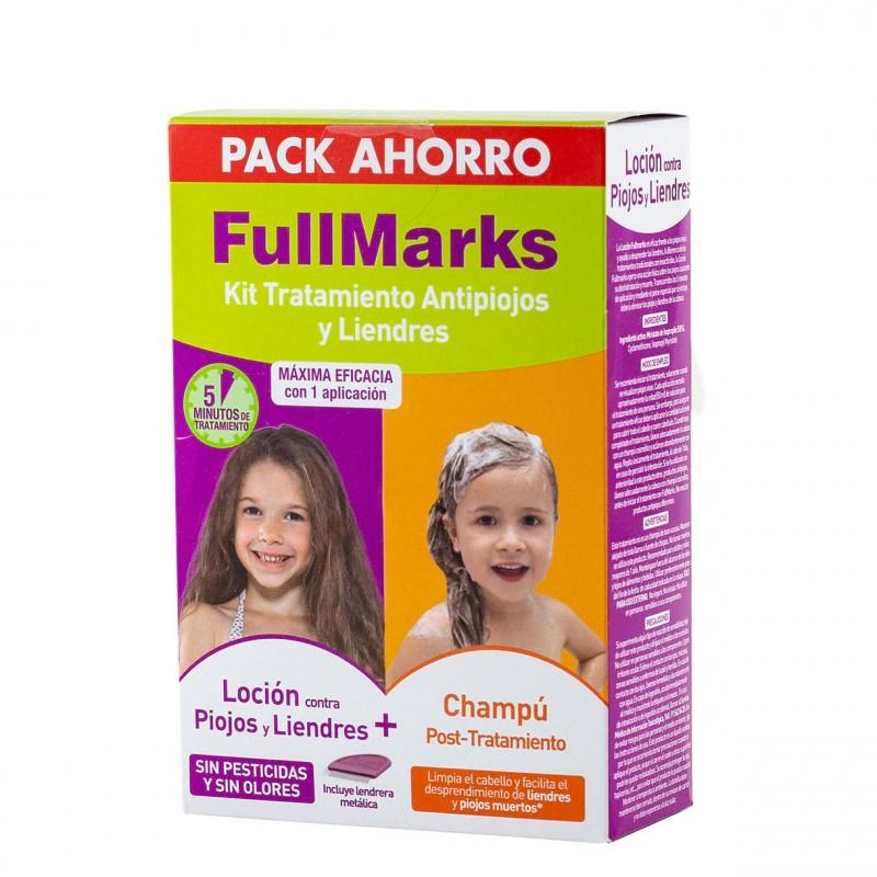 Fullmarks pack champu 150 ml+ locion pediculicida kit 100 ml-Farmacia Olmos