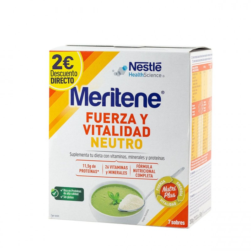 Meritene neutro 7 sobres - Farmacia Olmos