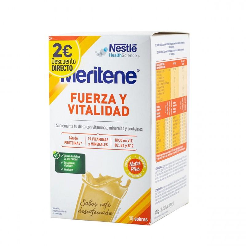 Meritene batido cafe descafeinado 15 sobres - Farmacia Olmos