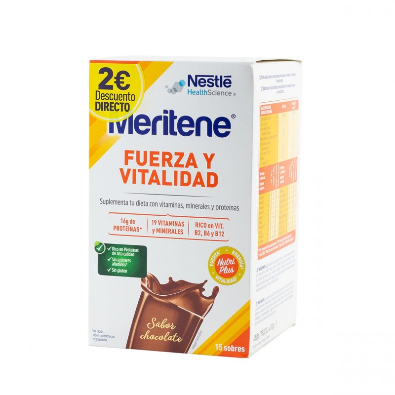 Meritene batido chocolate 15 sobres - Farmacia Olmos