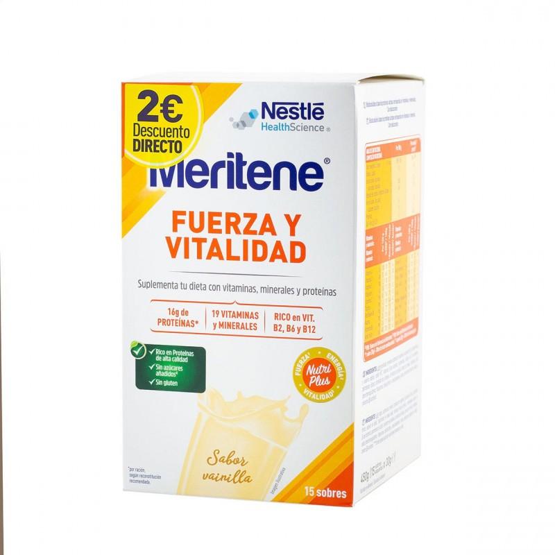 Meritene batido vainilla 15 sobres-Farmacia olmos