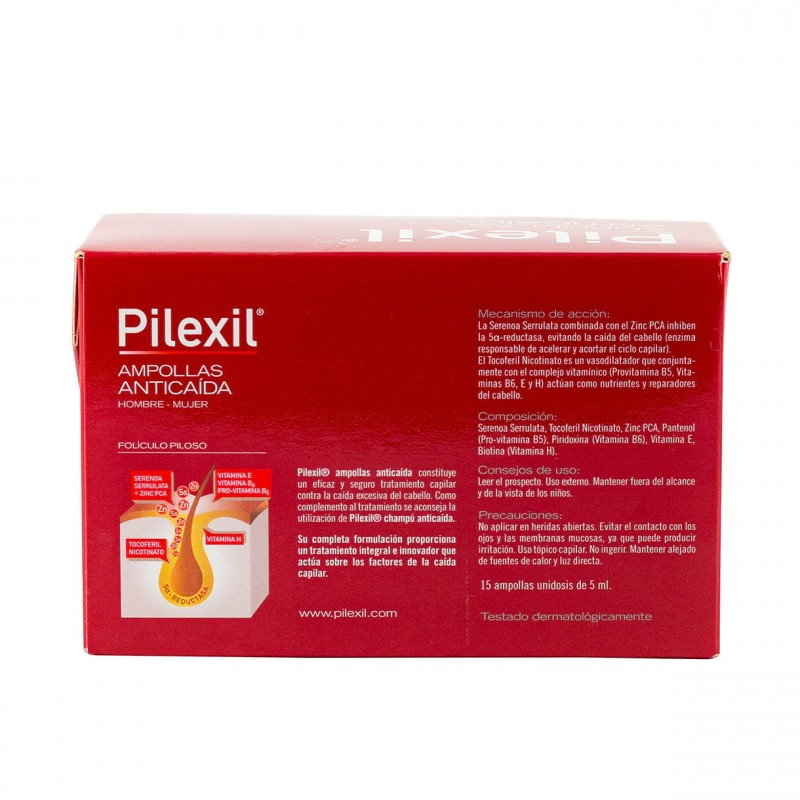 Pilexil anticaida 15 ampollas + regalo 5 ampollas-Farmacia Olmos