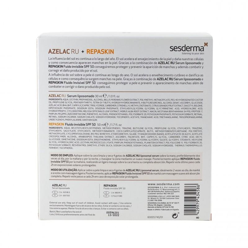 Sesderma belleza sin manchas azelac ru serum 30ml +repaskin fluido invisible spf50 50ml-Farmacia Olmos