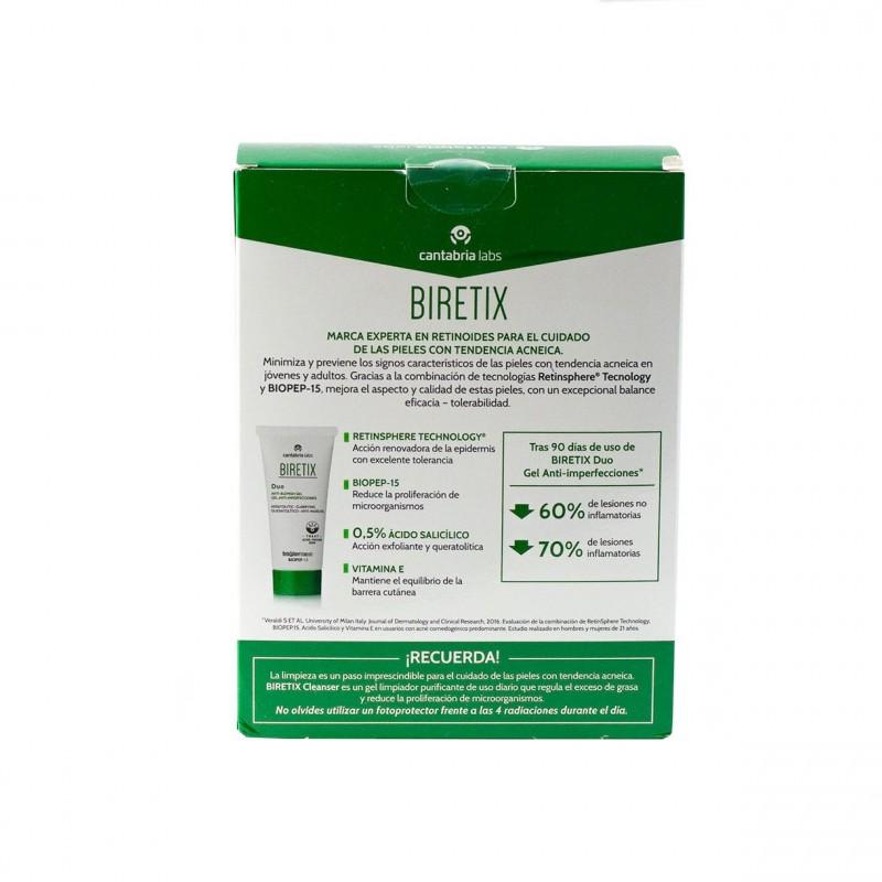 Biretix pack duo gel anti-imperfeciones 30ml + cleanser gel limpiador purificante 150ml - Farmacia Olmos