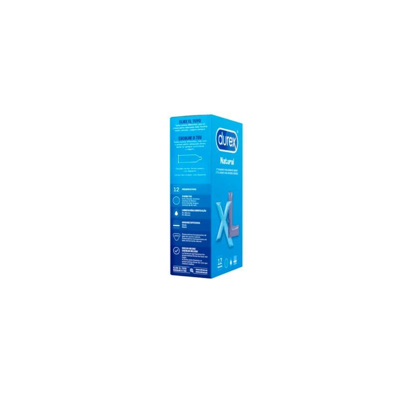 Durex natural xl 12 preservativos- Farmacia Olmos