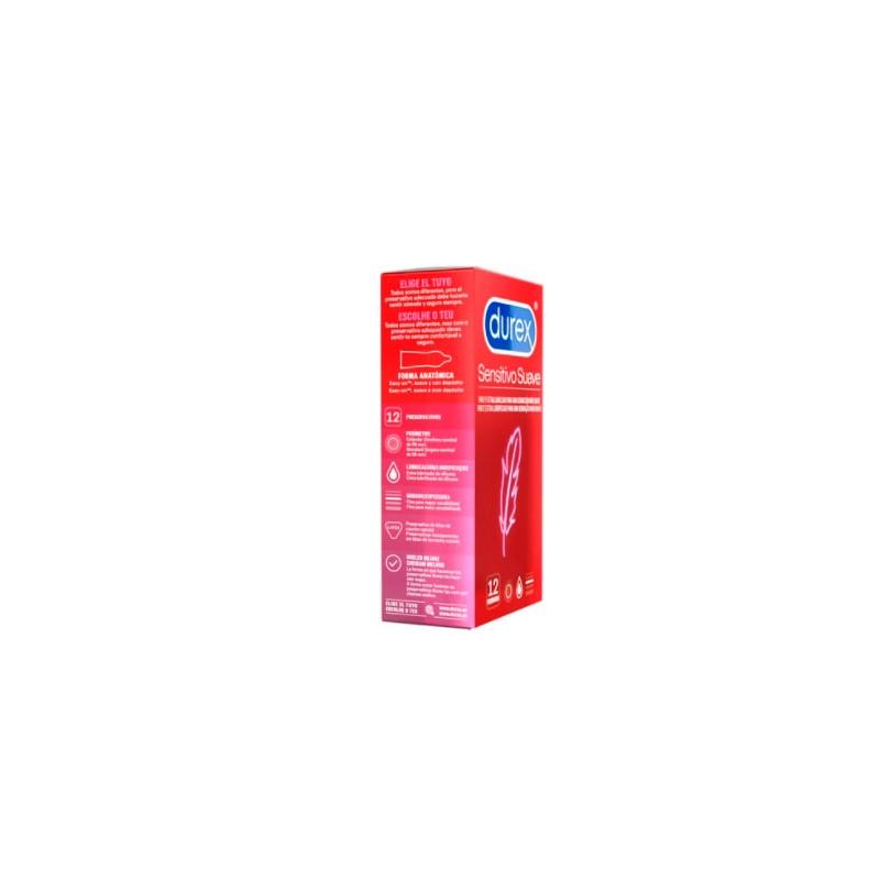 Durex sensitivo suave 12 preservativos-Farmacia Olmos