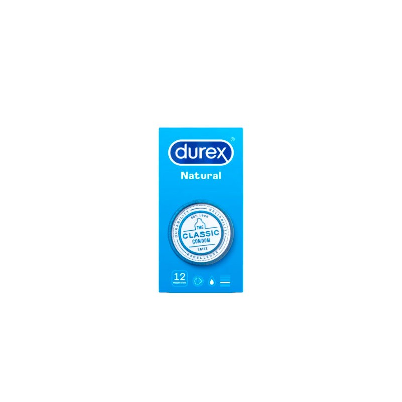 Durex natural 12 preservativos-Farmacia Olmos