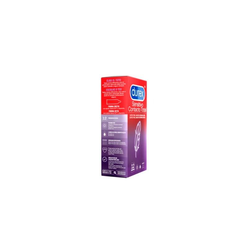 Durex sensitivo contacto total 12 preservativos - Farmacia Olmos