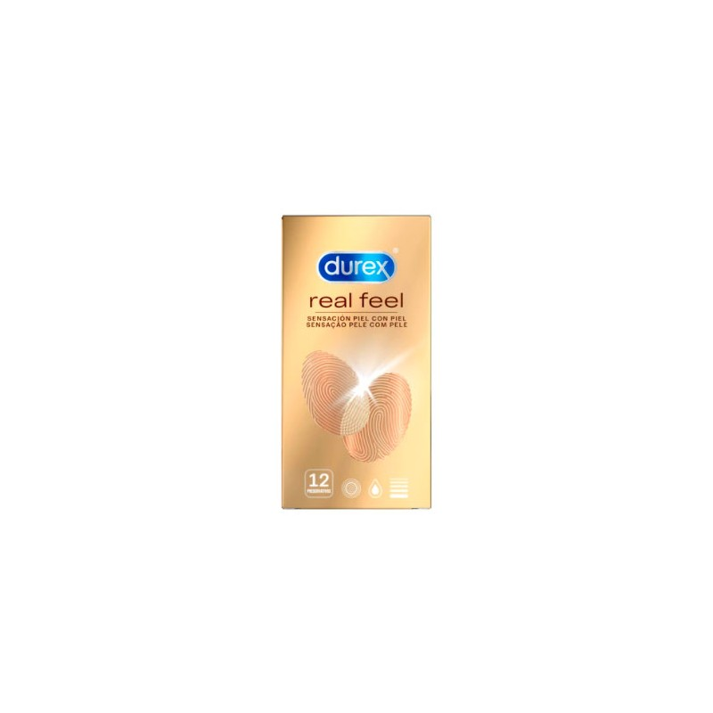 Durex real feel 12 preservativos -Farmacia Olmos