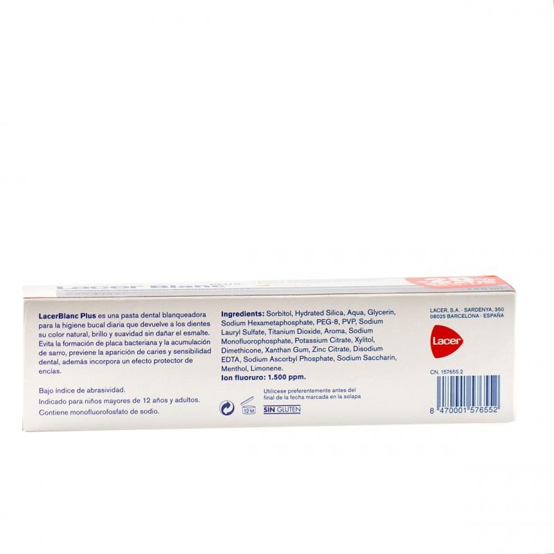 Lacer blanc plus pasta dental blanqueadora 150ml-Farmacia Olmos
