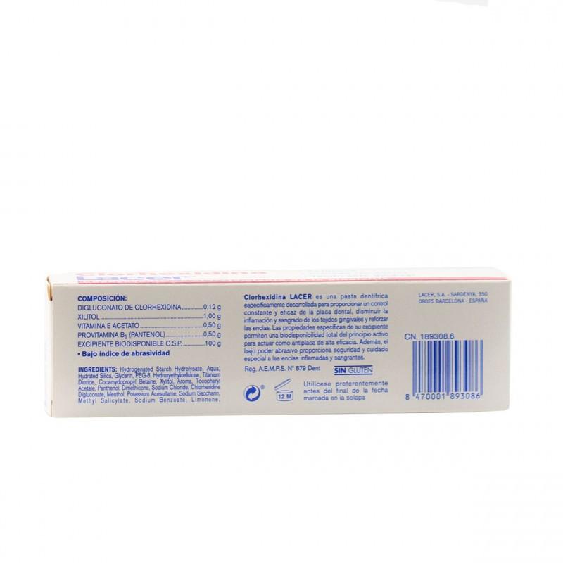 Lacer clorhexidina  pasta dental 75ml-Farmacia Olmos