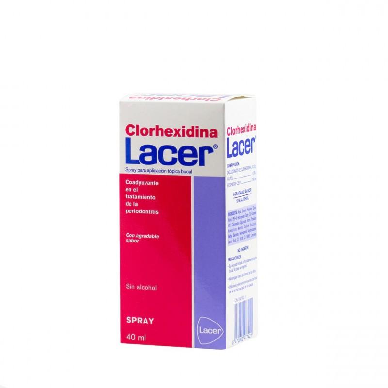 Lacer clorhexidina colutorio spray 40ml-Farmacia Olmos