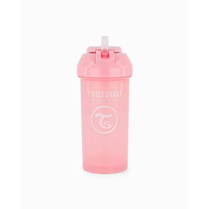 Twistshake straw cup rosa +12m 360ml-Farmacia Olmos