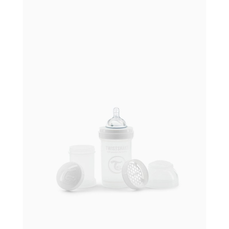 Twistshake biberon anti-colico blanco 180ml- Farmacia Olmos