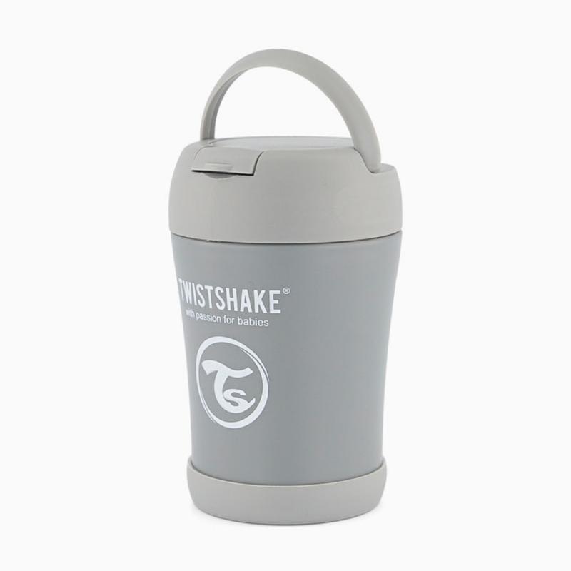Twistshake food container gris 350ml- Farmacia Olmos