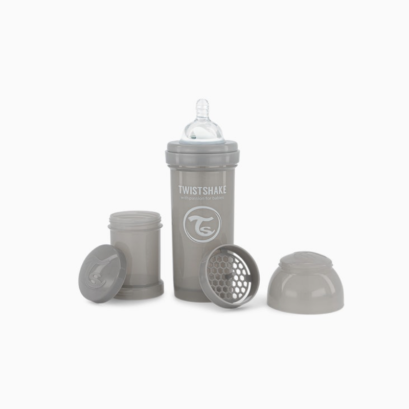 Twistshake biberon anti-colico gris 330ml-Farmacia Olmos