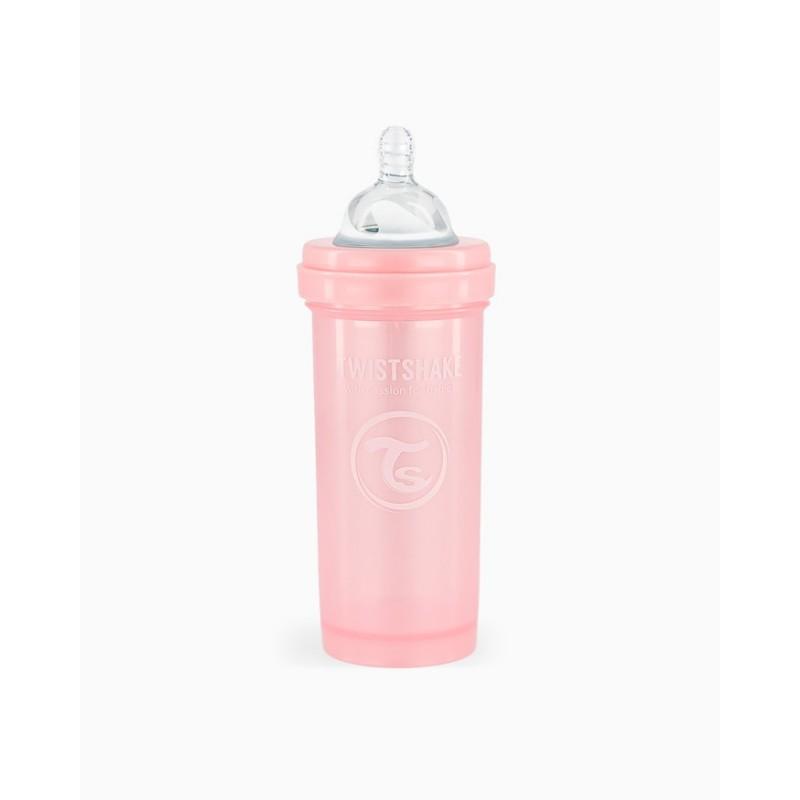 Twistshake biberon anti-colico rosa 260ml- Farmacia Olmos