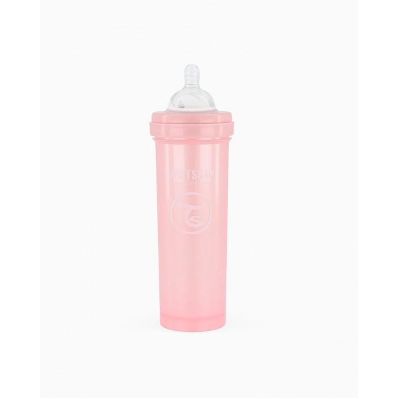 Twistshake biberon anti-colico rosa 330ml- Farmacia Olmos